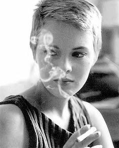 Jean Seberg in A Bout de Souffle (Breathless, by Goddard)