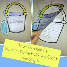 Free printables to make a summer bucket list and glyph from Teaching Heart!!!  A Beach Unit - Beach lessons, links, ideas, and more for the classroom!
