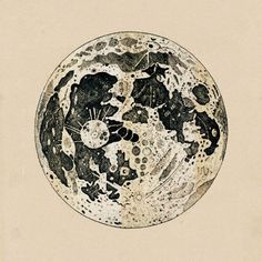 engraving of the Moon, by John Keill (a   disciple of Isaac Newton), from Introductio ad Veram Astronomiam,   1725