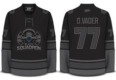 This is the hotness and totally irresponsible for me to buy. Geeky Jerseys | Only Available for a Limted Time! Black Squadron