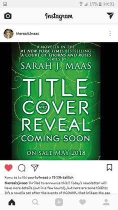 Sarah J Maas  New book coming in 2018