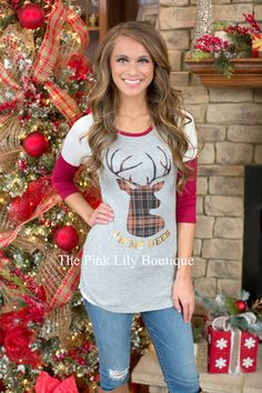 Casual For Christmas Reindeer Blouse
