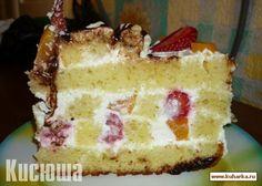 Очень сочный фруктовый торт