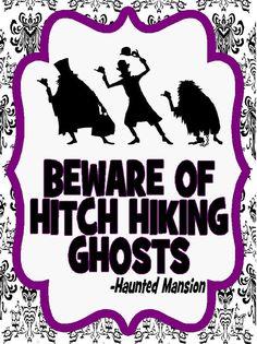 Haunted Mansion Beware Of Hitch Hiking by FavoriteDaughterDz, $1.50
