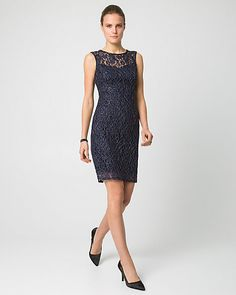 Lace Illusion Neck Cocktail Dress - Make an entrance with our stunning lace cocktail dress designed with an illusion neckline for a dramatic finish. Old Dresses, Formal Dresses, Illusion Neckline, Party Gowns, Designer Dresses, Bridesmaid Dresses, My Style, Lace, Landing