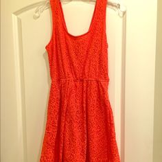 Orange Skater Dress Really cute orange skater dress for spring!  Belt it or throw a blazer over it! or wear it as. easy!  It's a great color to really freshen up your spring look! Mossimo Supply Co Dresses