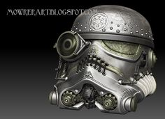 Star Wars helmets steampunk style - the lens might actually help them hit something :)