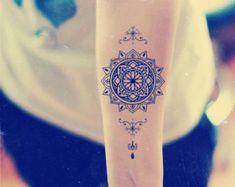 temporary tattoo buddhistical lotus flower by prosciuttojojo