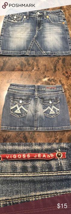 EUC Vigoss Jeans Skirt. Size 5/6 or 28 EUC Vigoss Jeans Skirt. Size 5/6 or 28 Vigoss Skirts Mini