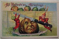 Halloween cards of yore could be both delightful and weird, serving up tricks and treats in equal measure.