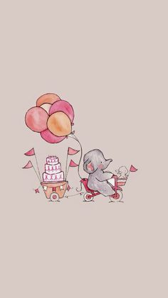 Elephant Tag wallpapers Page Elephant Animals Cute Animal Cartoon Wallpaper, Disney Wallpaper, Iphone Wallpaper Drawing, Phone Wallpaper Cute, Elephant Wallpaper, Animal Wallpaper, Phone Wallpapers Tumblr, Pretty Wallpapers, Vintage Wallpapers