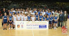Equipes de France et d'Allemagne Tournoi, Basket Ball, Strasbourg, 2013, Basketball Court, 50 Anniversary, Croatia, Germany