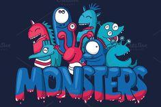 Monster set  by YuliaBiser on @creativework247