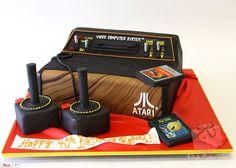 Atari Cake | Pink Box Cakes -- That's awesome!