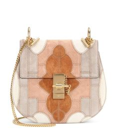 mytheresa.com - Drew Small Flower Patchwork leather and suede shoulder bag - Luxury Fashion for Women / Designer clothing, shoes, bags