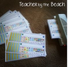 Name Tags Freebie and Math with Cards Giveaway!