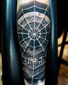 80 Spider Web Tattoo Designs For Men