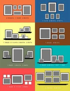 ideas bedroom layout guide hanging pictures for 2019 Picture Arrangements, Wall Hanging Arrangements, Wall Groupings, Picture Layouts, Picture Collages, Gallery Wall Layout, Bedroom Layouts, Empty Wall, Hanging Pictures