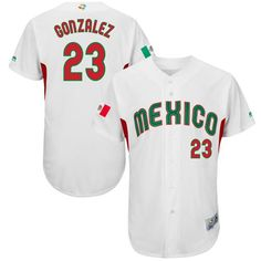 231ef7047 Team Mexico  23 Adrian Gonzalez White 2017 World Baseball Classic Authentic  Stitched MLB Jersey Baseball