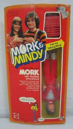 Talking MORK Doll Robin Williams NEW Mattel 1979 Toy Figure Mork and Mindy #Mattel