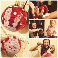 Kids diy Christmas ornaments