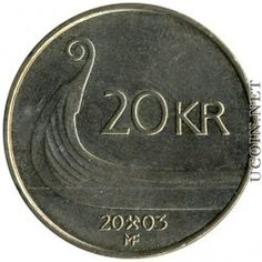 Norwegian Money: 20 krone NOK (or crown)  is worth about 2.50 cents American currency.