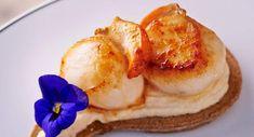 celles-ci avec Coquille Saint Jacques, Camembert Cheese, Pancakes, Pudding, Breakfast, Desserts, Food, Walnut Salad, Eten