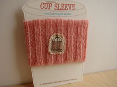 cup cozy from Chetanddot on Etsy
