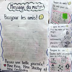 Morning Messages, Jouer, Literacy, Bullet Journal, Classroom, Chart, King, Writing, Learning