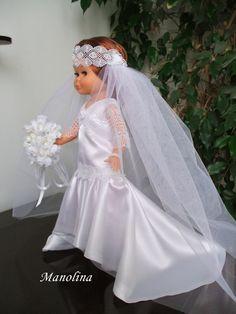 Nancy en particular: Novia años 20 America Girl, Girl Doll Clothes, Blythe Dolls, Marie, Flower Girl Dresses, Gowns, Wedding Dresses, American, Virginia