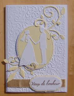 Wedding Anniversary Cards, Wedding Cards, Silhouette Couple, Make Your Own Card, Wedding Engagement, Special Events, Card Making, Joy, Bride