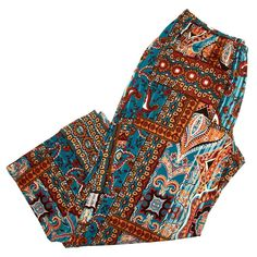 $14.99--1X--Plus Size Printed Palazzo Pants