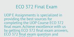 Beginners for ECO 372 final exam preparation you need guide from experienced…
