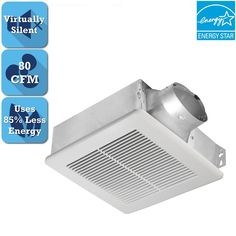 Delta BreezSlim Series 80 CFM Ceiling or Wall Bathroom Exhaust Fan, ENERGY STAR* (22) Write a ReviewQuestions & Answers (11)80 CFM manages moisture and humidityUL-listed for both ceiling mount and sidewall mount installationQuiet motor operates at 0.6 sones to keep noise minimal$6999/each