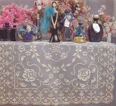 tovaglia quadrato filet | Hobby lavori femminili - ricamo - uncinetto - maglia