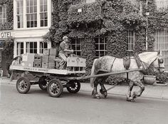 An Adnams Brewery dray pulls a cart past The Swan Hotel in Southwold, Suffolk, England. Old Photos, Vintage Photos, Swan Hotel, Butterfly Room, Shire Horse, Picture Boards, Horse Drawn, Yesterday And Today, Travel Around