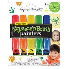 Elmers/Xacto E112 Wild Colors Squeeze N Brush Painters Paint Brushes