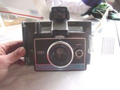 VINTAGE 1960s POLAROID LAND CAMERA COLORPACK II WITH CASE & INSTRUCTIONS