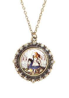Alice in Necklace - Multi, Gold, Red, Orange, Blue, Casual, Best Seller, Daytime Party, Gold, Top Rated