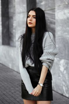 Autumn grey's!  ✨✨  (Credit to Holynights) #greysweater #cozysweaters #streetfashion #trendyoutfit #fashionista #autumnootd #romwe