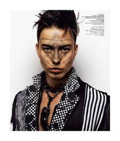 VMan #20, Winter 2011 | Editorial: Tokyo Tribe | Models: Sen Mitsuji |  Stylist: Shun Watanabe | Makeup: Uda (S-14) | Hair: Asashi