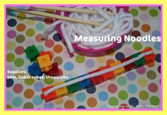 """Chopstick math or science For Chinese New Year, cut yarn """"noodles"""" and have students measure them! Easy and fun math station! Chinese New Year Activities, Chinese New Year Crafts, New Years Activities, Math Activities, Culture Activities, Math Work, Fun Math, Maths, Classroom Crafts"""