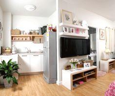 A casa é toda integrada, além de aconchegante, é muito estilosa e facil de organizar!