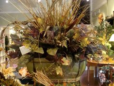 Large Silk Floral Arrangement for Fall.
