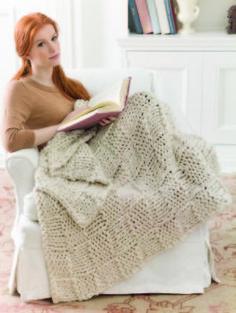 Three Strand Afghan -Free knit pattern