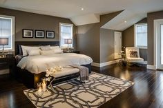 Wall color is Rockport Gray by Benjamin Moore.