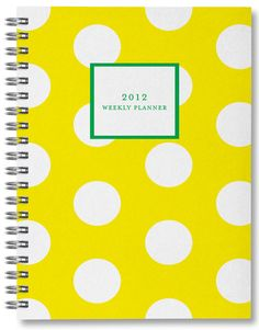 2012 weekly planner | sarah pinto