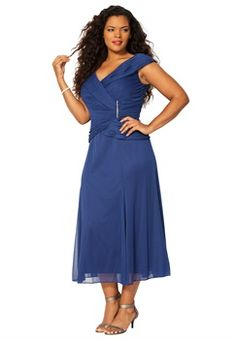 aedda68aaf28 Plus Size Pleat Wrap Dress Aftenkjoler