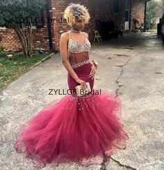 ZYLLGF Bridal Sexy Mermaid V Neck Formal Evening Gowns Dresses Rhinestone Beaded Women Evening Formal Party Dress TS352