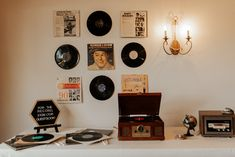 CFEC Decor: Geometric Letter Board, Eight Track Player  P.C. T and V Photography Tree Lighting, Twinkle Lights, Record Player, Top Artists, Letter Board, Wedding Venues, Gallery Wall, Track, Country